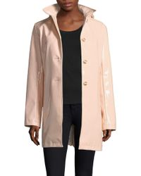 Jane Post | High Shine Slicker 3-button Coat | Lyst