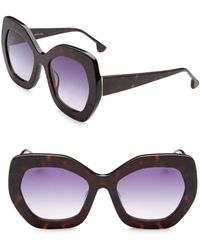 Alice + Olivia - Dinah Hexagonal Sunglasses - Lyst