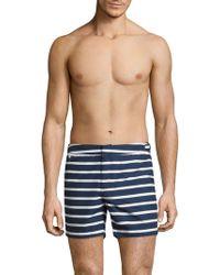 Ralph Lauren - Mayfair Striped Swim Trunks - Lyst