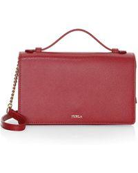Furla - Women's Incanto Leather Crossbody Bag - Red - Lyst