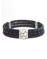 John Hardy - Kali Woven Leather Bracelet - Lyst