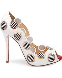 Christian Louboutin Women's Lady Bug 120 Polka Dot Peep Toe Court Shoes - Multicolour