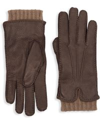 Loro Piana - Stirling Leather & Cashmere Gloves - Lyst