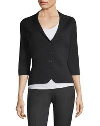 Elie Tahari - Sabra Button-front Sweater - Lyst