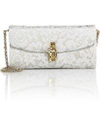 Dolce & Gabbana   Lace Pouchette Chain Clutch   Lyst