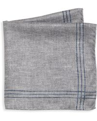 Saks Fifth Avenue - Collection Striped Double-faced Pocket Square - Lyst