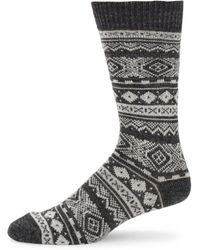 Barbour - Onso Fairisle Socks - Lyst