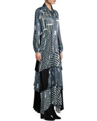 Beatrice B. - Colorblock Graphic Print Maxi Dress - Lyst