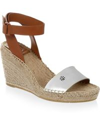 Tory Burch - Bima Leather Wedge Espadrilles - Lyst