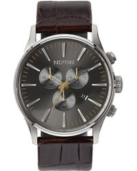 Nixon - Sentry Chronograph Watch - Lyst