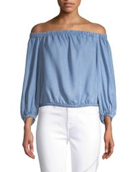 7 For All Mankind - Off-the-shoulder Top - Lyst