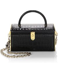 Judith Leiber - Embossed Leather Train Case - Lyst