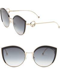 Fendi - 58mm Metal Cat Eye Sunglasses - Lyst