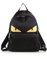 2cd7479ce873 Lyst - Fendi Monster Backpack W watersnake   Fur Details in Gray for Men
