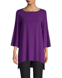 Eileen Fisher - Boatneck Tunic Top - Lyst