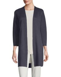 Eileen Fisher - Simple Open Front Cardigan - Lyst