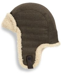 ab843a4ead25a Lyst - UGG Shearling Fur Heritage Flap Hat in Natural for Men