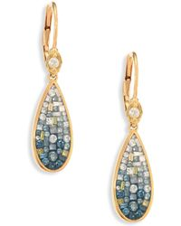 Plevé - Marine Ombré Diamond & 18k Yellow Gold Teardrop Earrings - Lyst