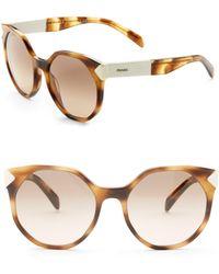 Prada - 55mm Geometric Sunglasses - Lyst