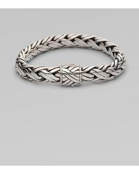 John Hardy - Woven Silver Bracelet - Lyst