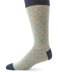 Saks Fifth Avenue | Colorblock Dotted Socks | Lyst