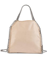 Lyst - Stella Mccartney Bella Mini Striped Woven Cross-body Bag c6b11dadcba05