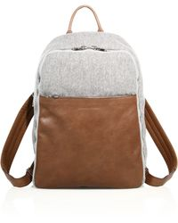 Brunello Cucinelli - Wool & Leather Backpack - Lyst