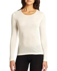 Hanro - Silk Long-sleeve Top - Lyst