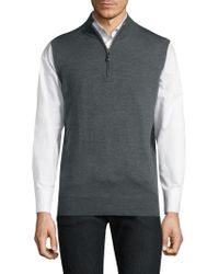 Peter Millar - Merino High Neck Vest - Lyst