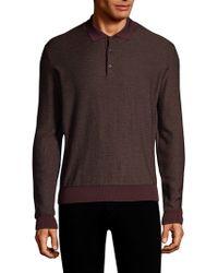 Corneliani - Jacquard Polo Shirt - Lyst