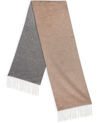 Saks Fifth Avenue - Collection Solid Double Faced Scarf - Lyst