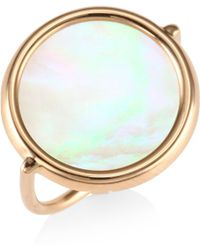 Ginette NY - 18k Rose Gold Mother-of-pearl Ring - Lyst