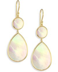 Ippolita - Polished Rock Candy Mother-of-pearl & 18k Yellow Gold Snowman Drop Earrings - Lyst