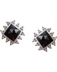 Coomi - Vitality Diamond, Black Spinel & Sterling Silver Stud Earrings - Lyst