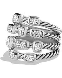 David Yurman - Confetti Ring With Black Onyx, Black Diamonds And Gold - Lyst