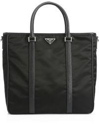 4c4c6a7dee87 Techical Fabric Golf Bag. $3,500 · Prada - Men's Nylon Logo Shopper - Black  - Lyst