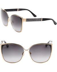 01db7c0a2f45 Jimmy Choo - Women s Maty 58mm Square Sunglasses - Black - Lyst