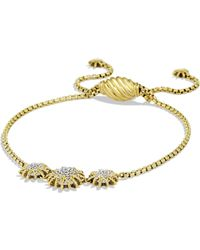 David Yurman - Starburst Three-station Bracelet With Diamonds In Gold - Lyst