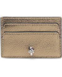 Alexander McQueen - Metallic Leather Card Holder - Lyst