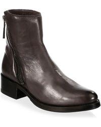 Frye - Demi Asymmetric Zip Leather Booties - Lyst