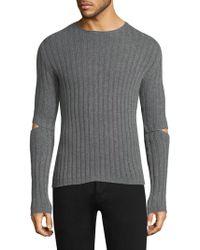 Helmut Lang - Elbow Cutout Sweater - Lyst