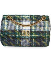 Balenciaga - Bb Logo Plaid Crossbody Bag - Lyst