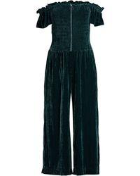 Parker - Women's Londyn Velvet Off-the-shoulder Crop Jumpsuit - Everglade - Size 2 - Lyst