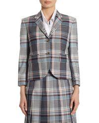 Thom Browne | Wool Madras Check Blazer | Lyst
