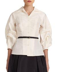 Carolina Herrera - Icon Collection Silk Blouson Blouse - Lyst