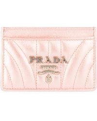 Prada - Diagramme Leather Card Case - Lyst