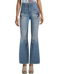 COACH - Quilted Patchwork Flare Jeans - Lyst