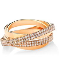 Repossi - Berbere 18k Rose Gold & Pavé Diamond Ring - Lyst