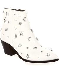 Rebecca Minkoff - Lizzie Embellished Leather Booties - Lyst