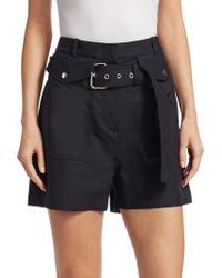 3.1 Phillip Lim - Hi-rise Belted Pocket Shorts - Lyst
